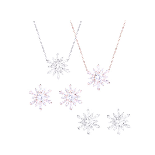 1046519 - <JS55_ID03> [earrings + necklace] TARI snow flower set