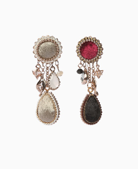 1046535 - <ER1546_DI01> [clip type] [handmade] Cloria earrings