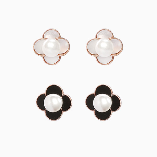1046536 - <ER1543_DG02> [clip type] Lausanne Flower earrings