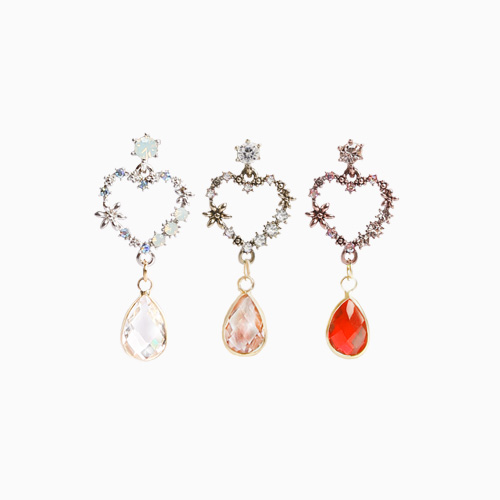 1046539 - <ER1538_DA16> [clip type] una antique heart earrings
