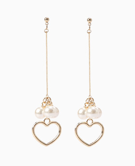 1046540 - <ER1545_CB07> [clip type] karin heart pearl earrings