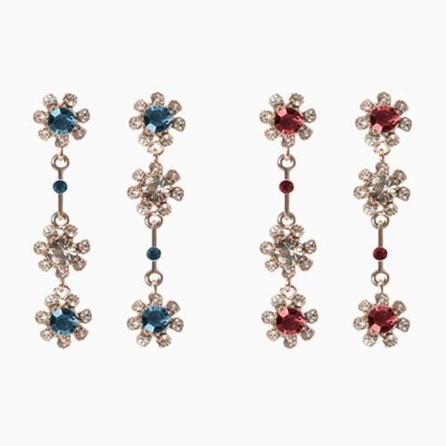 1046544 - <ER1548_ID05> [clip type] Luis Flower cubic earrings