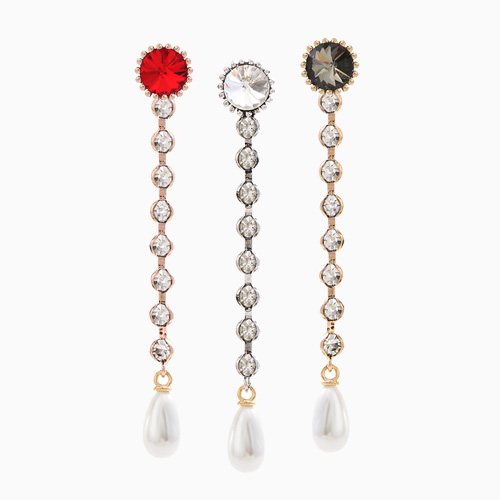 1046545 - <ER1535_CA07> [clip type] benevic cubic long earrings