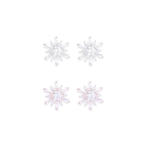 1046546 - <ER1551_ID03> [clip type] snow flower earrings