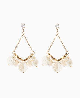 1046667 - <ER1569_GG01> [MBC cooperate with your hand] YUVA pearl earrings