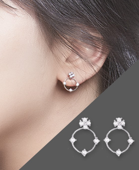 1046673 - <ER1573_GD03> [MBC co-sponsored] [Silver Post] Winona cubic earrings