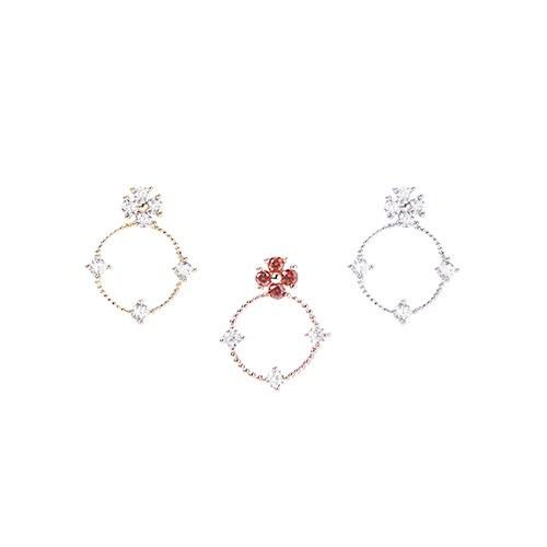 1046673 - <ER1573_GD03> [Silver Post] Winona cubic earrings