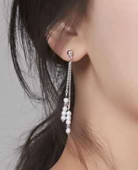 1046679 - <ER1578_GG08> [MBC cooperate with your hand] pearl earrings