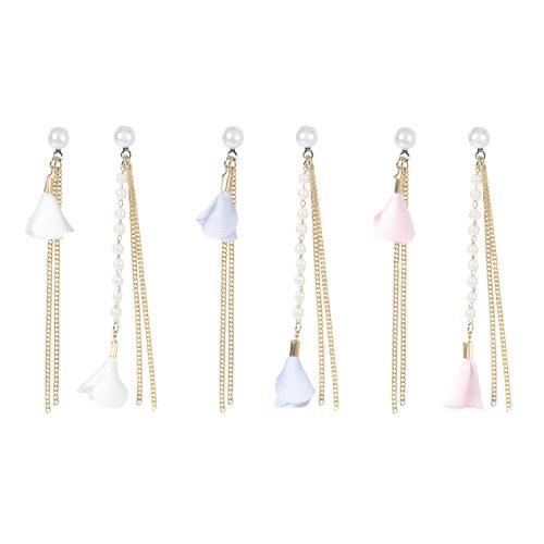 1046692 - <ER1582_CB13> Unbalanced Keira long earrings