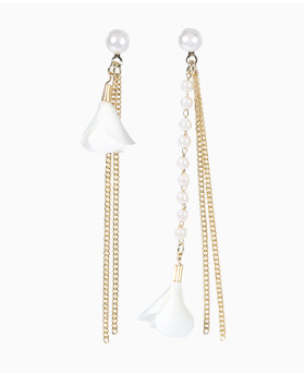 1046692 - <ER1582_CB13> Unbalanced Keira long earrings