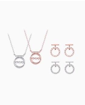 1046704 - <JS57_IH07> [necklace + earrings] Clayton set