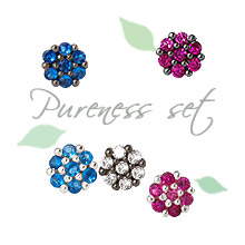 222958 - [Same day shipping] [SALE] [Silver] pureness earrings