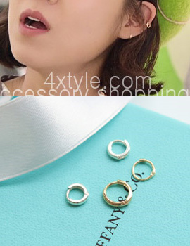 223168 - <ER337-JA10> [Same Day Release] [Taiwan's Sun Tae gongsil] [10k Gold] minimal ring (earflaps) earrings