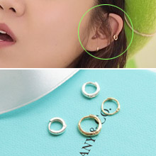 223168 - <ER337-JA10> [10k Gold] Minimal Ring (Earside) Earrings