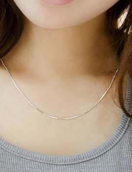223482 - <SL403-S> [Same day delivery] [Best love KooAeJeong] [Silver] Mild steel necklace
