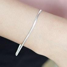 223936 - <SL002-BD08> [Silver] Natural snake bracelet