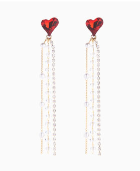 1046736 - <ER1564_CG05> [clip type] Ricky Ricky heart earrings