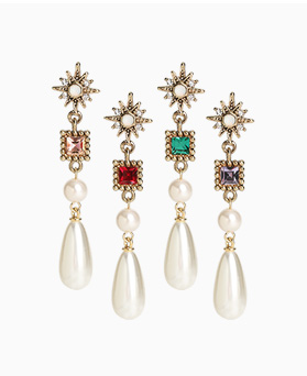 1046740 - <ER1604_CC23> Edrin cubic pearl earrings