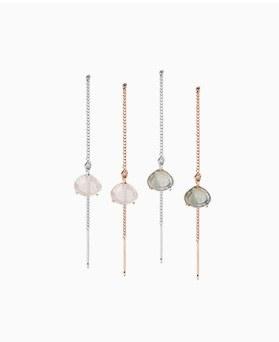 1046760 - <ER1610_BD07> [Silver] holly long earrings