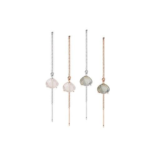 1046760 - <ER1610_BH05> [Silver] holly long earrings