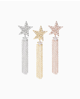 1046761 - <ER1608_CA09> [Silver Post] Wayne star earrings