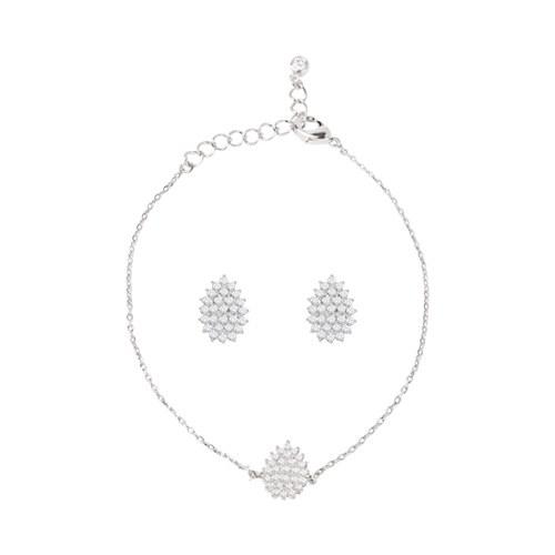 1046764 - <JS61_IE14> [earrings + bracelet] [Silver Post] Lewer tear set