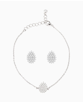 1046764 - <JS61_IE14> [earrings + bracelet] [Silver Post] Lewer tear set