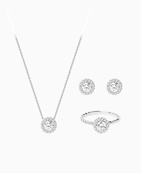 1046770 - <JS62_BE06> [earrings + necklace + ring] [Silver] Amber set