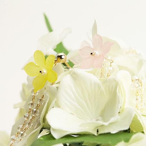 1046793 - <ER1621_CF09> Bonbon Flower long earrings