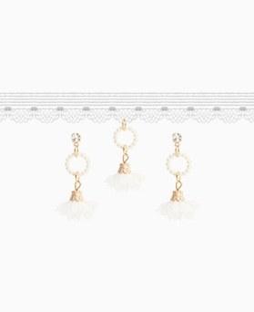 1046802 - <JS63_IF17> [necklace + earrings] Blanc choker set