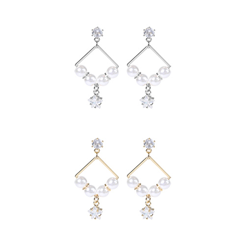 1046806 - <ER1587_CD20> [clip type] Tenerife pearl earrings