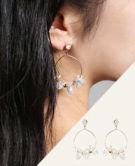 1046815 - <ER1629_CA12> [Silver Post] Debora ribbon earrings