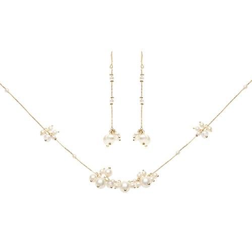 1046818 - <JS64_IE17> [necklace + earrings] chans pearl set