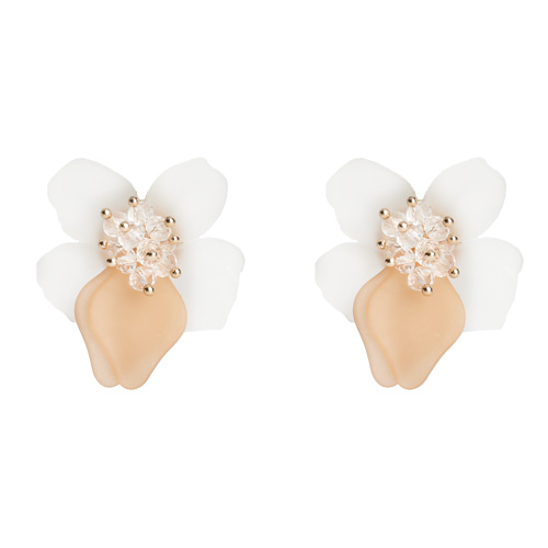 1046843 - <ER1602_CB22> [clip type] Tino Flower earrings