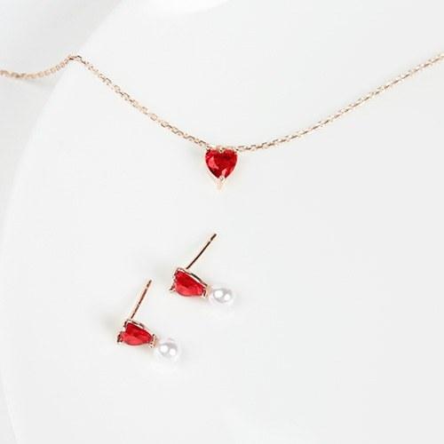 1046871 - <JS300_BE06> [earrings + bracelet + anklet] [Silver] shabby heart set