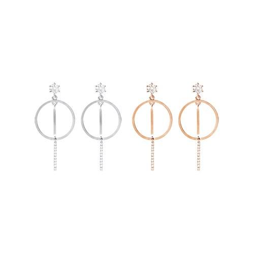 1046881 - <ER1648_CC08> [Silver Post] Ear Earrings
