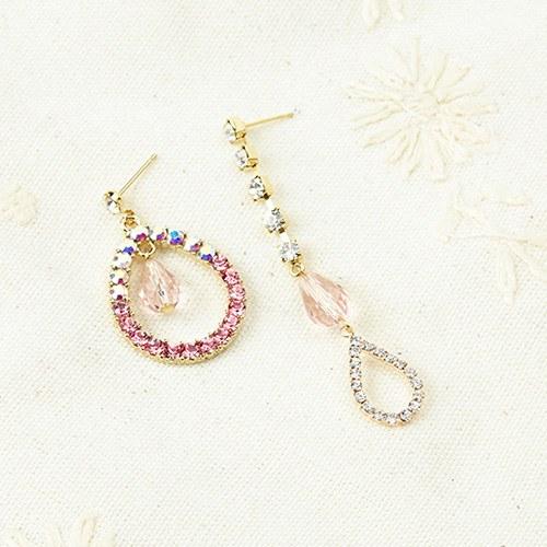 1046895 - <ER1657_CE08> dorothy cubic Unbalanced earrings