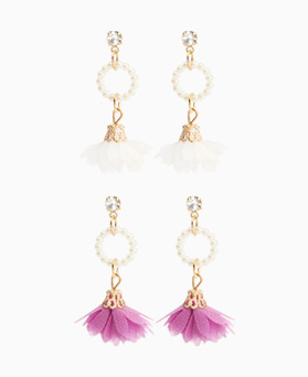 1046898 - <ER1626_IF17> [clip type] blanche earrings