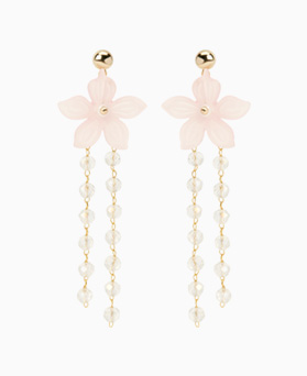 1046899 - <ER1621_CF09> [clip type] Bongbong Flower long earrings
