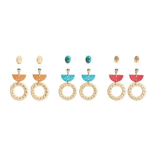 1046920 - <ER1666_CE07> [4Piece 1set] holland earrings