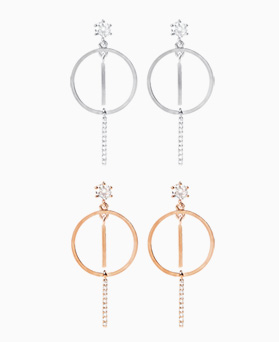 1046922 - <ER1648_CC08> [clip type] ear earrings