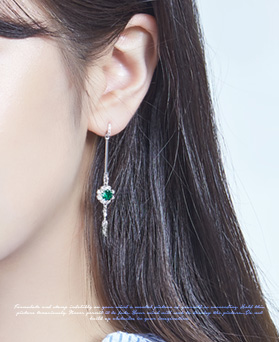 1046924 - <ER1656_DC07> [clip type] Gemma long earrings