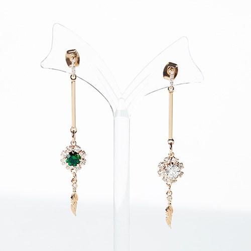 1046924 - <ER1656_DC07> [clip type] Gemma long earrings