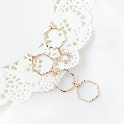 1046938 - <ER1661_DC10> [clip type] Irene Unbalanced earrings