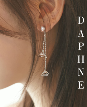 1046972 - <ER1663_DE10> [clip type] Daphne long earrings