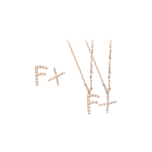 1046985 - <JS305_IH09> [earrings + necklace] Faile alphabet set