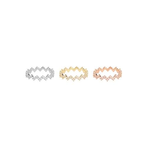 1046995 - <RI795_AC11> [Silver] Platinum cubic ring
