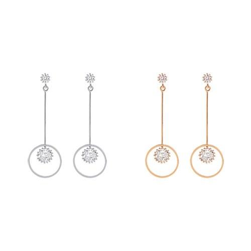 1046996 - <ER1697_DJ12> [TVN hundreds of star sponsors from the sky] LOUDER circle earrings