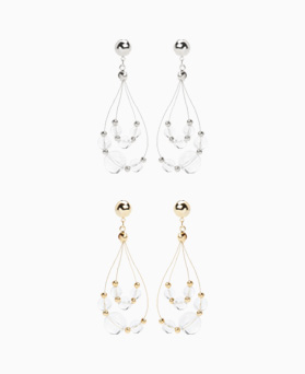 1047011 - <ER1680_CH15> [clip type] sabina drop earrings