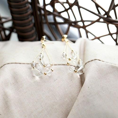 1047011 - <ER1680_CH15> [clip type] sabina drop earrings